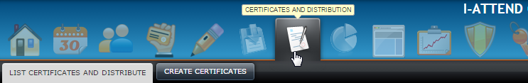 Create and distribute certificates for CEU, CME, CPE